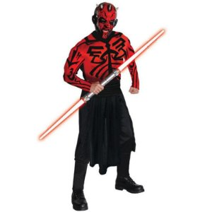 Fantasia Adulto Darth Maul Star Wars Tam Único - Usado