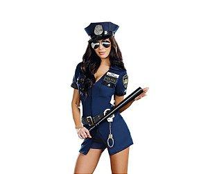 Fantasia Adulta Feminina Policial Tam GG - USADA
