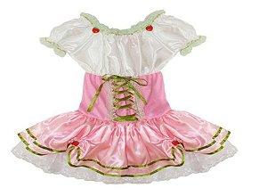 Fantasia Moranguinho Rosa Infantil Tam 2