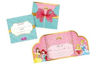 Convite Grande Princesas Amigas 8 Unidades