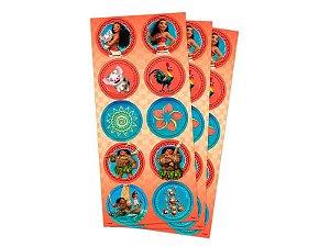 Adesivo Decorativo Redondo Moana - Pack 03 Unidades