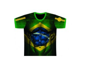 Camiseta Adulta Brasil Músculos Tam M