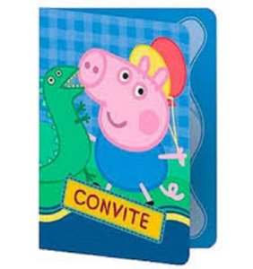 Convite Peppa /George Pig Regina