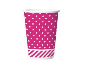 Copo de Papel 180ml Festa Colors Pink 8 Unidades