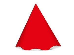 Chapéu de Aniversário Festa Colors Vermelho 8 Unidades