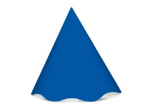Chapéu de Aniversário Festa Colors Azul Royal 8 Unidades