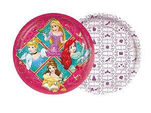 Prato 18cm Princesas Amigas 8 Unidades