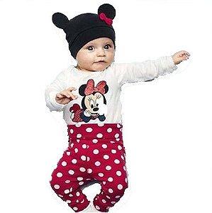 Conjunto Minnie com Touca - Tam 18 a 24 meses