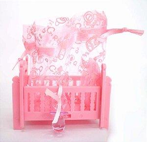 Mini Berço Rosa - Unidade
