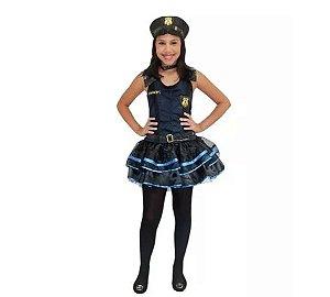 Fantasia Policial Infantil Feminino - Tam 12