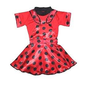 Fantasia Ladybug Infantil - Tam 12