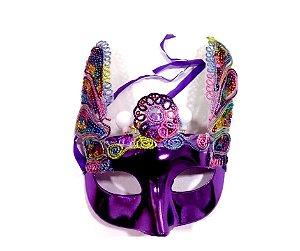 Máscara Carnaval Roxo
