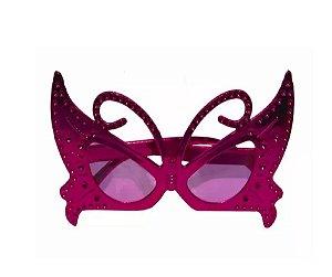 Óculos Borboleta Metalizado Rosa