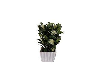Vaso Com Flor Artificial Branca