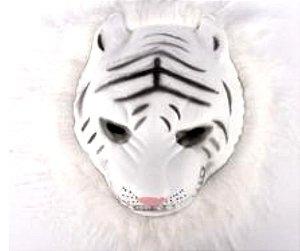 Mascara Bichos Tigre Branco