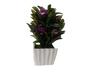 Vaso Com Flor Artificial Pink