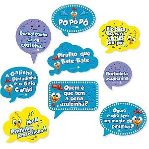 Kit Placas Galinha Pintadinha