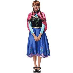Fantasia Anna - Filme Frozen - Adulto - Usado