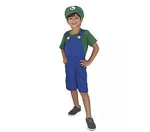 Fantasia Bombeiro Luigi Infantil Tam 2 - usado