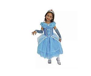 Fantasia Princesa Cinderela Diamante inf tam 2