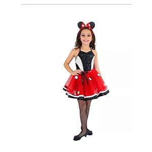 Fantasia Minnie  glamour inf tamanho 2