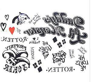 Tatuagem temporária Arlequina Esquadrão Suicida – Feminino