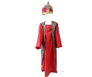 Fantasia Rei Mago Vermelha infantil tam 6 - Usado