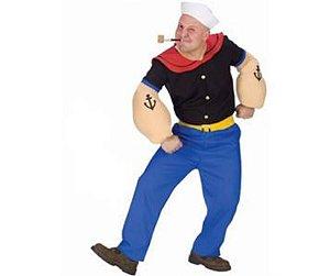 Fantasia Marinheiro Popeye adulto tam M - Usado