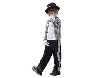 Fantasia Michael Jackson infantil tam GG - Usado