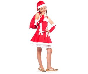 Fantasia Mamãe Noel infantil tam 8