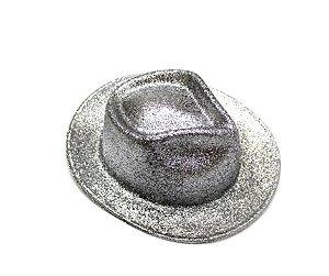 Chapéu de Cowboy com glitter Cinza