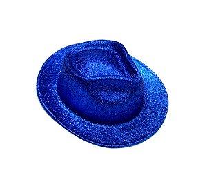 Chapéu de Cowboy com glitter Azul