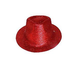 Chapéu de Cowboy com glitter Vermelho