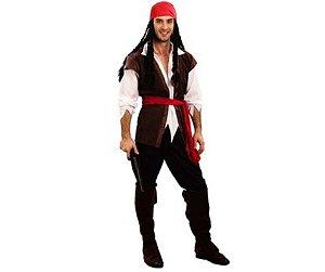 Fantasia Pirata Marrom adulto tam U - Usado