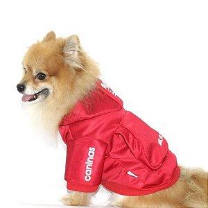 Casaco Caninas Vermelho para cachorro tam M