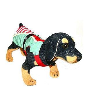 Fantasia de Ajudante de Papai Noel para cachorro tam M