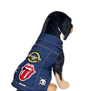Jaqueta Rock para cachorro tam P