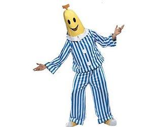 Fantasia Banana de Pijama B2 Adulto - usado