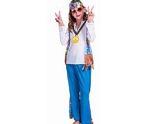 Fantasia hippie unissex infantil tam G