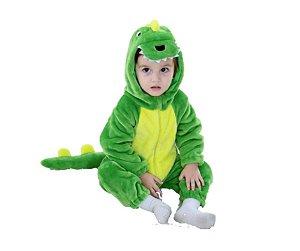 Fantasia de pelúcia Dinossauro infantil unissex tam 18-23 meses