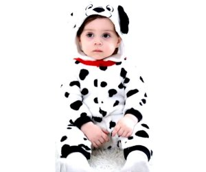 Fantasia de pelúcia Dálmata infantil unissex tam 0-4 meses