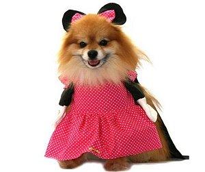 Fantasia de Minnie Rosa para Pet tam GG