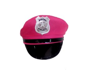 Chapéu Policial Pink Adulto