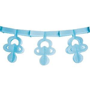 Varal Chupeta de papel Azul 3 metros