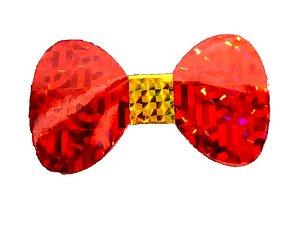 Gravata Borboleta holográfica Vermelha c/8 und