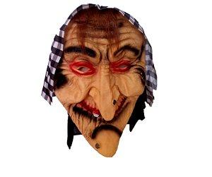 Máscara Bruxa látex com lenço