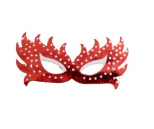 Máscara borboleta Vermelha c/6 und