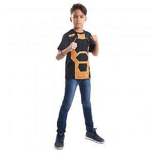 Camiseta Nerf laranja infantil G