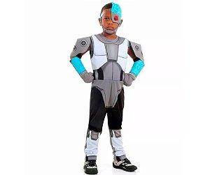 Fantasia Cyborg Infantil Jovens Titans Premium Original