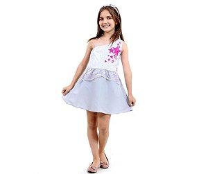 Fantasia Vestido Barbie P 3 - 4 anos